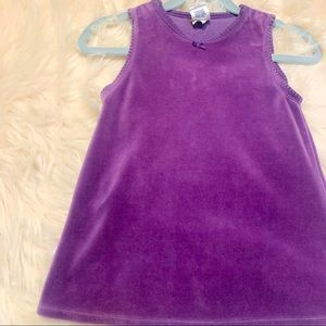 Baby Gap Purple Velvet Dress